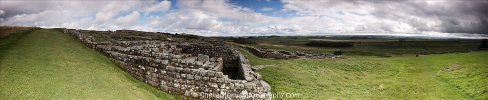Houseteads Roman Fort Panorama