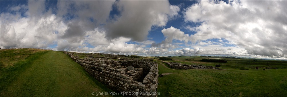 Housesteads Roman Fort Panorama