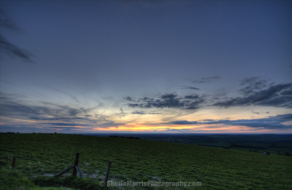 Sunset on White Horse Hill